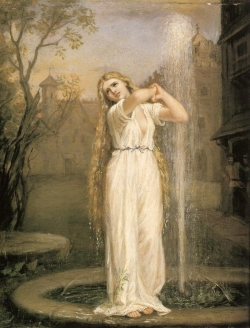 John William Waterhouse: Undine (1872, olje na platnu).